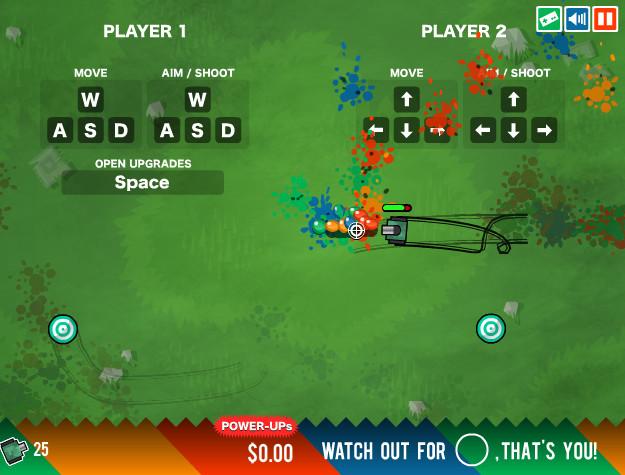 Картинка к игре Цветные танки