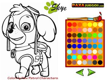 Картинка к игре Раскраска щенячий патруль
