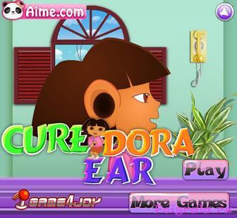 Игра Даша у доктора, лечим уши