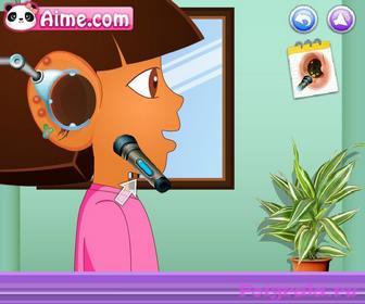 Картинка к игре Даша у доктора, лечим уши