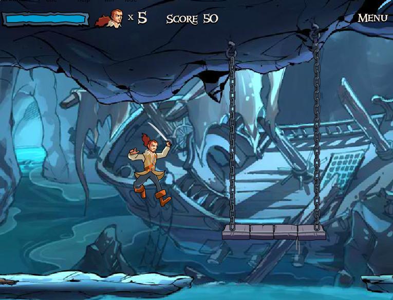 Картинка к игре В проклятой пещере