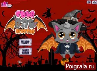 Оденьте летучую мышь на хеллоуин картинка 1