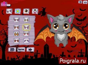 Картинка к игре Оденьте летучую мышь на хеллоуин