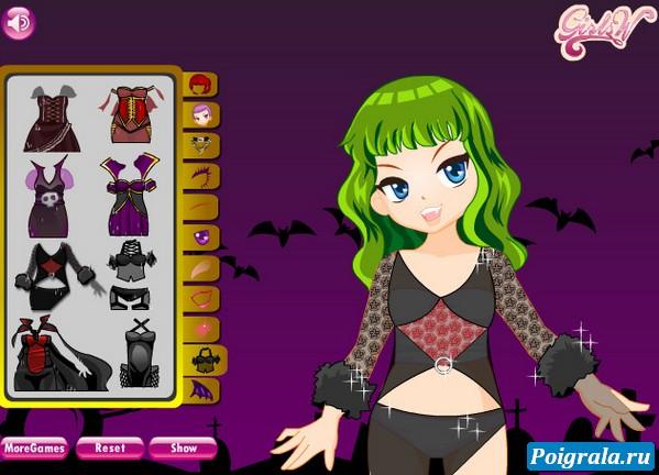 Картинка к игре Одевалка вампира