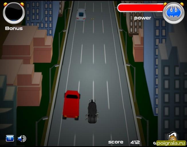 Картинка к игре Бетмен гонки на мотоцикле