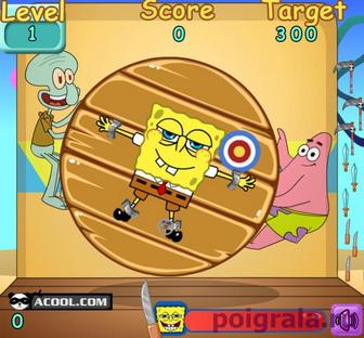 Картинка к игре Дартс с Губкой Бобом