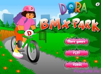 Игра Даша путешественница катается на велосипеде