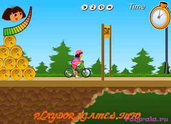 Картинка к игре Даша путешественница катается на велосипеде
