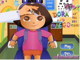Игра Даша и Диего лечим глаза у окулиста