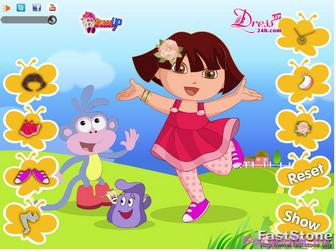 Картинка к игре Одевалка Даши и башмачка