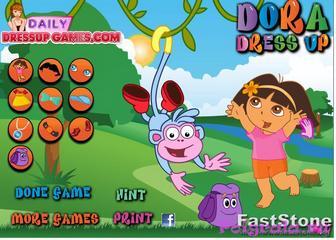 Картинка к игре Оденьте Дашу и башмачка