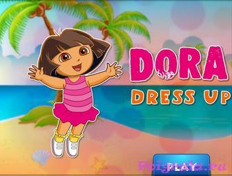 Игра одевалка Даши для девочек картинка 1