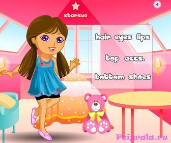 Картинка к игре Оденьте девочку