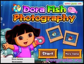 Игра Даша фотографирует рыбок