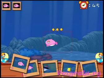 Картинка к игре Даша фотографирует рыбок