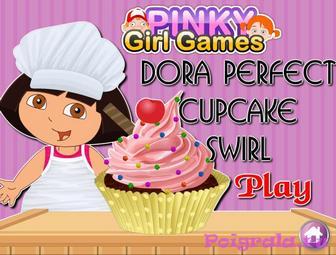 Даша готовит кекс картинка 1