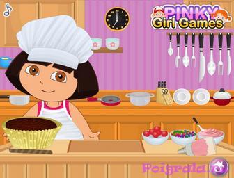 Картинка к игре Даша готовит кекс