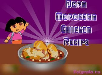 Игра Даша готовит курицу