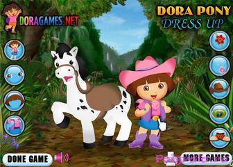 Картинка к игре Даша и белый пони одевалка