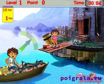 Картинка к игре Даша и Диего рыбаки