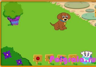 Игра Даша путешественница играет с собаками