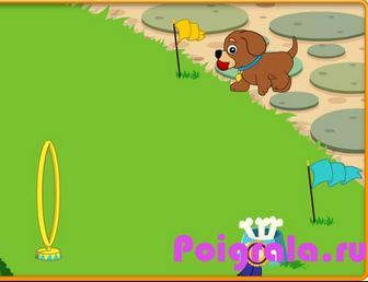 Картинка к игре Даша путешественница играет с собаками