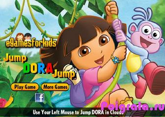 Игра Даша путешественница: прыжки по облакам