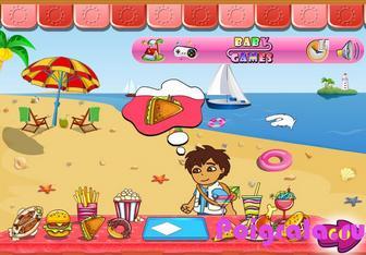 Картинка к игре Даша официант на пляже