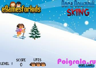 Картинка к игре Даша катается на лыжах