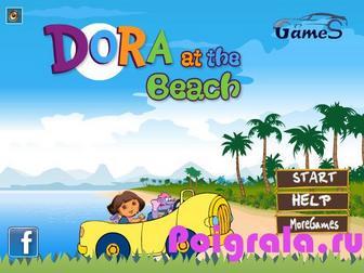 Игра Даша путешественница гонки на пляже