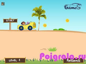 Картинка к игре Даша путешественница гонки на пляже