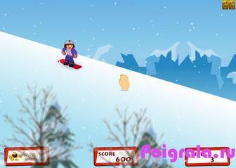 Картинка к игре Даша катается на сноуборде