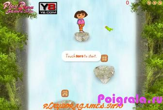 Игра Даша путешественница на водопаде