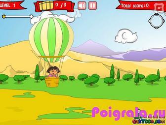 Картинка к игре Даша на воздушном шаре