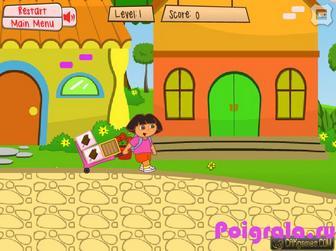 Картинка к игре Даша носит мороженое