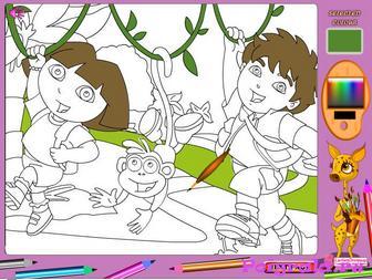 Картинка к игре Раскраска с Дашей следопытом