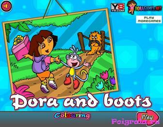 Раскраска Даши и Башмачка 2 картинка 1