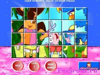 Игра Пазл даша и башмачок для девочек
