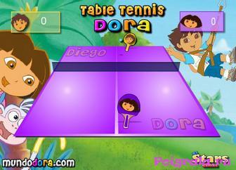 Картинка к игре Даша играет в настольный теннис