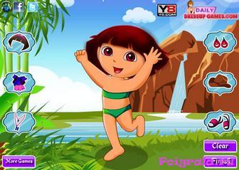 Картинка к игре Одевалка Даша у водопада