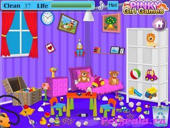 Картинка к игре Даша убирает комнату