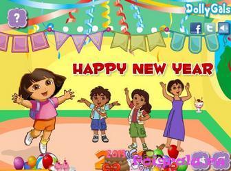 Картинка к игре Даша украшает комнату к Новому году