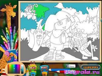 Картинка к игре Даша путешественница раскраска