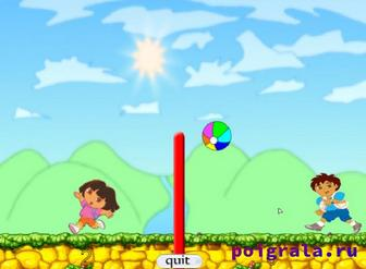 Картинка к игре Диего и Даша играют в волейбол