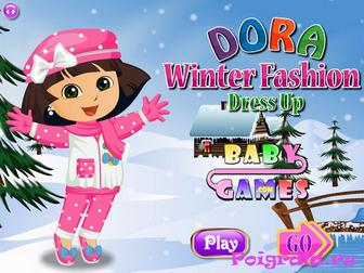 Даша, зимняя одевалка картинка 1