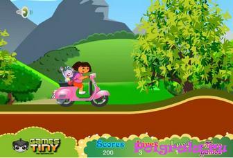 Картинка к игре Даша на скутере