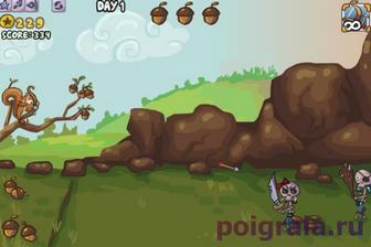 Картинка к игре Белка защищает свои орехи