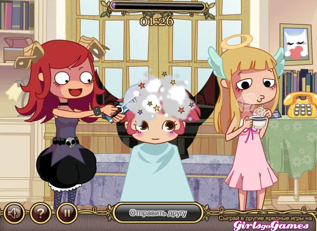 Картинка к игре Ангел и Демон парикмахерская