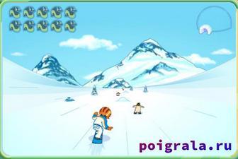 Картинка к игре Диего сноубордист спасатель животных