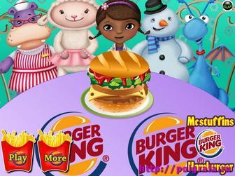 Игра Дотти готовит гамбургер